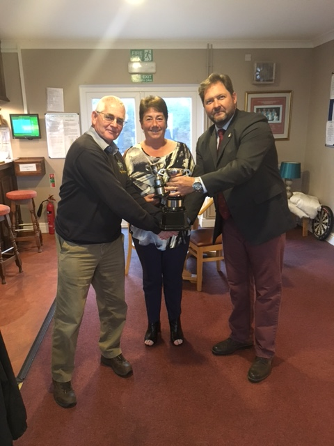 Mike Watkins and Lynne Rees winners of the James Mixed Foursomes