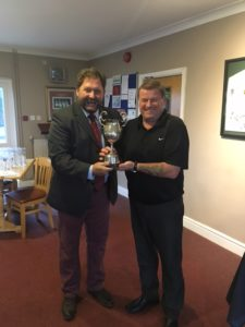 Robbie O'Rourke winner of the Tinny Thomas Cup