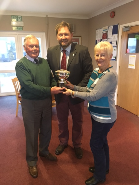 Mike Williams and Ann Williams winners of the Flitch Bowl